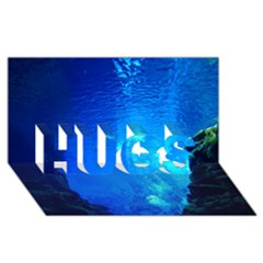 UNDERWATER TRENCH HUGS 3D Greeting Card (8x4)