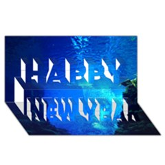 UNDERWATER TRENCH Happy New Year 3D Greeting Card (8x4)