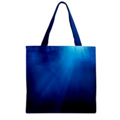 UNDERWATER SUNLIGHT Zipper Grocery Tote Bags