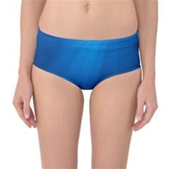 UNDERWATER SUNLIGHT Mid-Waist Bikini Bottoms