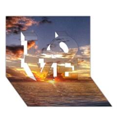 Tahitian Sunset Love 3d Greeting Card (7x5)