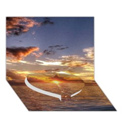 Tahitian Sunset Heart Bottom 3d Greeting Card (7x5)