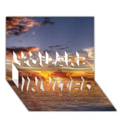 TAHITIAN SUNSET YOU ARE INVITED 3D Greeting Card (7x5)