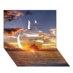 TAHITIAN SUNSET Apple 3D Greeting Card (7x5)