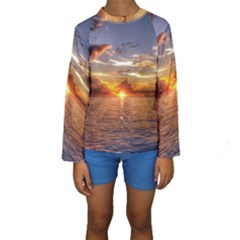 TAHITIAN SUNSET Kid s Long Sleeve Swimwear