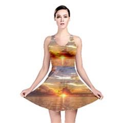 TAHITIAN SUNSET Reversible Skater Dresses