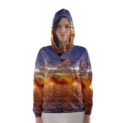 TAHITIAN SUNSET Hooded Wind Breaker (Women)