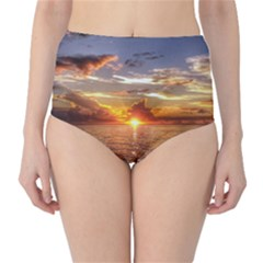 TAHITIAN SUNSET High-Waist Bikini Bottoms