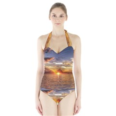 TAHITIAN SUNSET Women s Halter One Piece Swimsuit