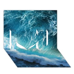 STORM WAVES I Love You 3D Greeting Card (7x5)