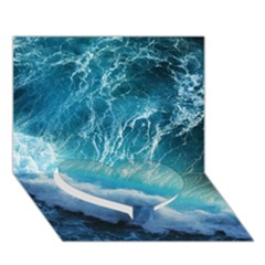 STORM WAVES Heart Bottom 3D Greeting Card (7x5)