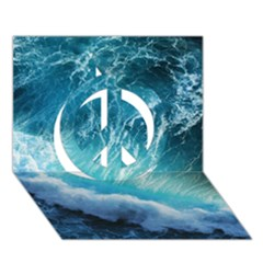 STORM WAVES Peace Sign 3D Greeting Card (7x5)
