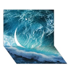 STORM WAVES Circle 3D Greeting Card (7x5)