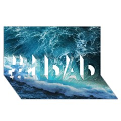 STORM WAVES #1 DAD 3D Greeting Card (8x4)