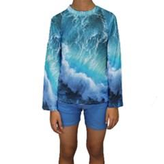 STORM WAVES Kid s Long Sleeve Swimwear