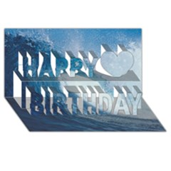 Ocean Wave 2 Happy Birthday 3d Greeting Card (8x4)