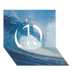 Ocean Wave 2 Peace Sign 3d Greeting Card (7x5)