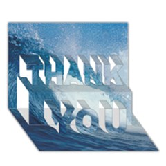 OCEAN WAVE 2 THANK YOU 3D Greeting Card (7x5)