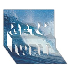 Ocean Wave 2 Get Well 3d Greeting Card (7x5)