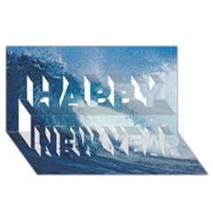 OCEAN WAVE 2 Happy New Year 3D Greeting Card (8x4)