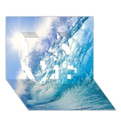OCEAN WAVE 1 LOVE 3D Greeting Card (7x5)