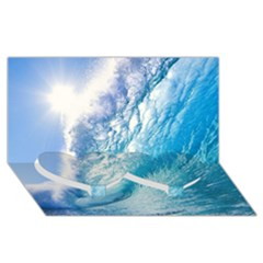 OCEAN WAVE 1 Twin Heart Bottom 3D Greeting Card (8x4)