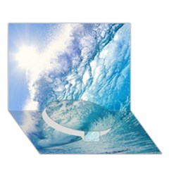 Ocean Wave 1 Circle Bottom 3d Greeting Card (7x5)