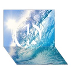 OCEAN WAVE 1 Peace Sign 3D Greeting Card (7x5)