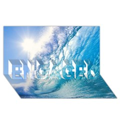 OCEAN WAVE 1 ENGAGED 3D Greeting Card (8x4)