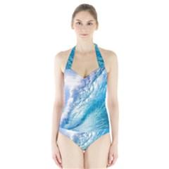OCEAN WAVE 1 Women s Halter One Piece Swimsuit
