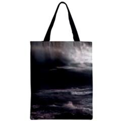 OCEAN STORM Zipper Classic Tote Bags