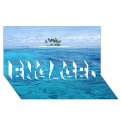 OCEAN ISLAND ENGAGED 3D Greeting Card (8x4)