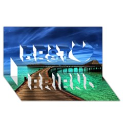 MALDIVES 2 Best Friends 3D Greeting Card (8x4)