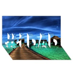 MALDIVES 2 #1 DAD 3D Greeting Card (8x4)