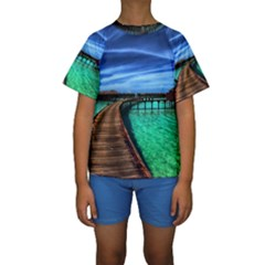 MALDIVES 2 Kid s Short Sleeve Swimwear