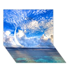 MALDIVES 1 Circle 3D Greeting Card (7x5)