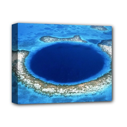 GREAT BLUE HOLE 2 Deluxe Canvas 14  x 11