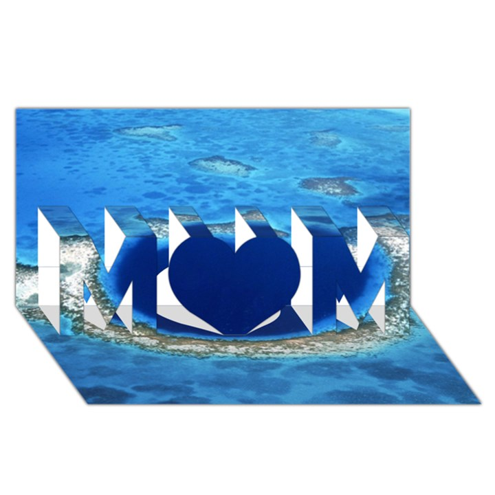 GREAT BLUE HOLE 2 MOM 3D Greeting Card (8x4)