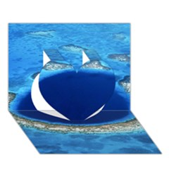 Great Blue Hole 2 Heart 3d Greeting Card (7x5)
