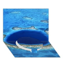 GREAT BLUE HOLE 2 Circle Bottom 3D Greeting Card (7x5)