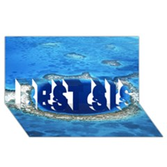 GREAT BLUE HOLE 2 BEST SIS 3D Greeting Card (8x4)