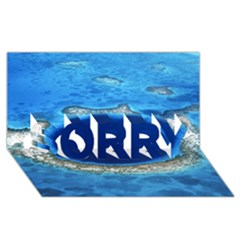 GREAT BLUE HOLE 2 SORRY 3D Greeting Card (8x4)