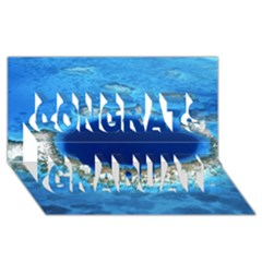 GREAT BLUE HOLE 2 Congrats Graduate 3D Greeting Card (8x4)