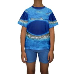 GREAT BLUE HOLE 2 Kid s Short Sleeve Swimwear