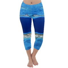 GREAT BLUE HOLE 2 Capri Winter Leggings