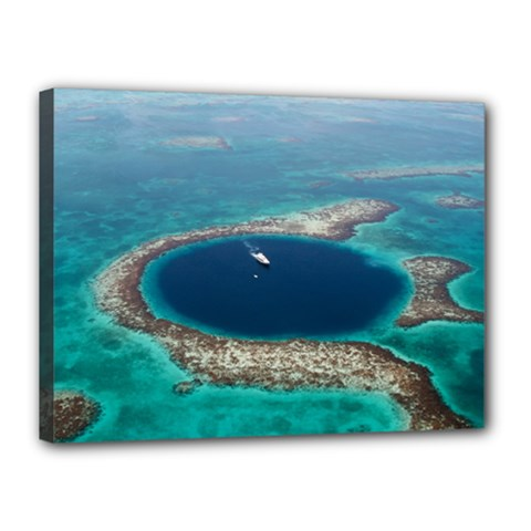 GREAT BLUE HOLE 1 Canvas 16  x 12
