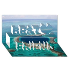 GREAT BLUE HOLE 1 Best Friends 3D Greeting Card (8x4)