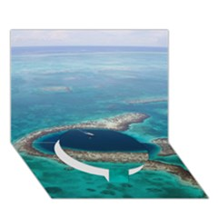 GREAT BLUE HOLE 1 Circle Bottom 3D Greeting Card (7x5)