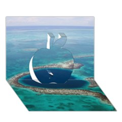 Great Blue Hole 1 Apple 3d Greeting Card (7x5)