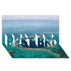 GREAT BLUE HOLE 1 BEST BRO 3D Greeting Card (8x4)
